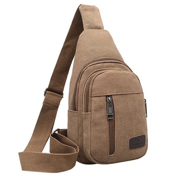Canvas Mens Sling Bag Chest Pack Crossbody Sports Bag
