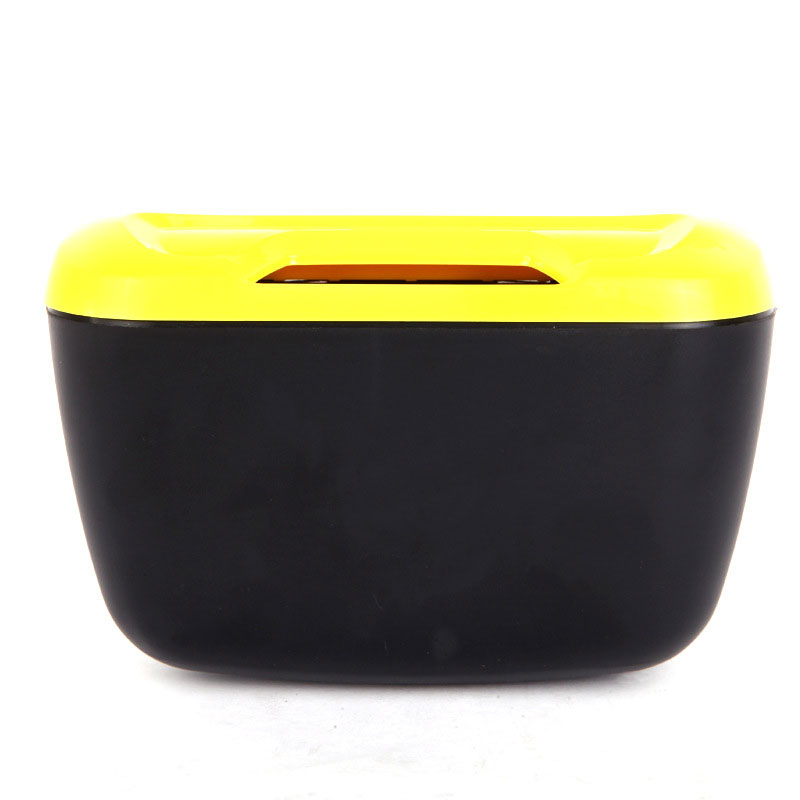 Multi-functional Sticky ABS Car Garbage Cans Trash Bin Side Bucket Box