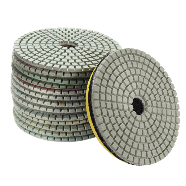 15pcs 4 Inch 30-6000 Grit Diamond Polishing Disc with M14 Self-adhesive Pad