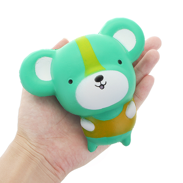 12cm Green Squishy Mini Cute Rat Slow Rising Soft Squishy Animal Collection Gift Decor Toy