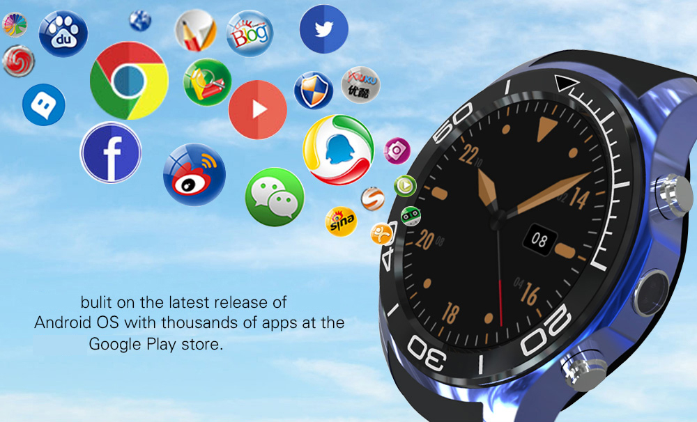 S1 PLUS 3G 1.3inch GPS Pedometer 1G 8G WIFI Camera Andriod 5.1 SIM Card Bluetooth SmartWatchphone