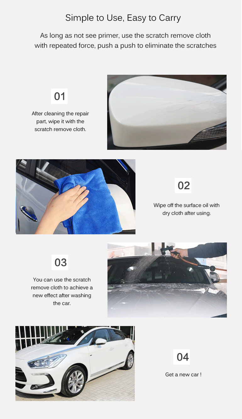 Magical Nanotechnology Car Scratch Remove Cloth Strong Decontamination Traces Repair Legendary Cloth for All The Car