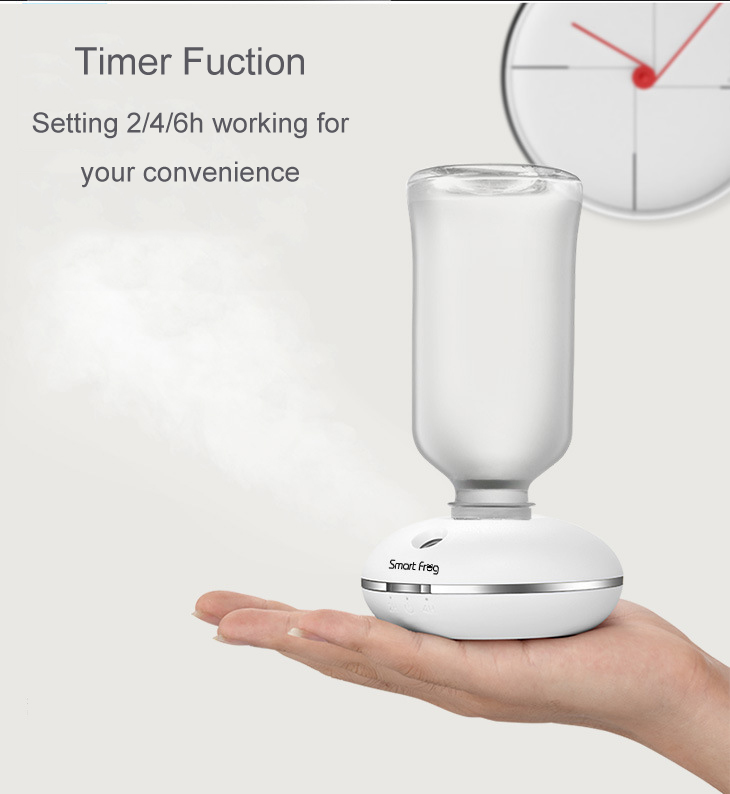 Loskii LH-484 Mini Timer Travel Humidifier Portable Humidifying Device for Use with Water Bottle