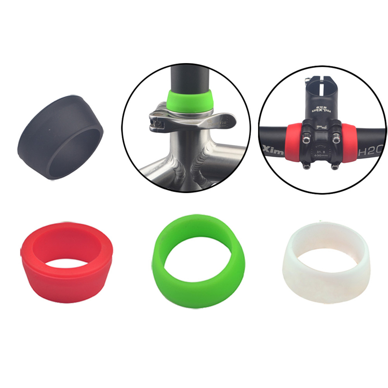 BIKIGHT Small/Big Waterproof Dustproof Bicycle Silicone Seatpost Cover Ring MTB Road Bike Seat Protection