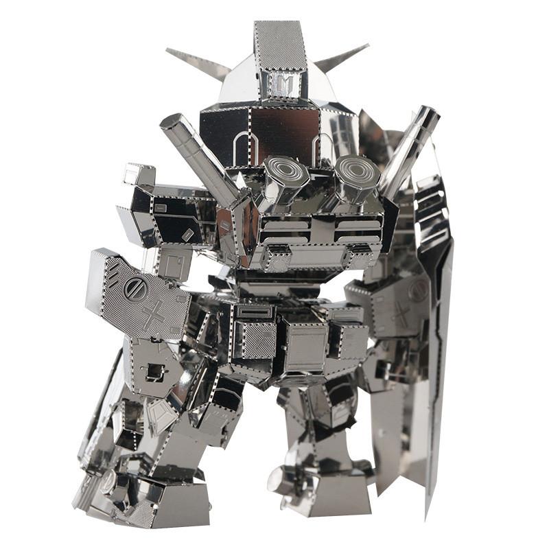 MU SOA-SD01 DIY 3D Robot Puzzle Model Silver Color 80*50*28mm