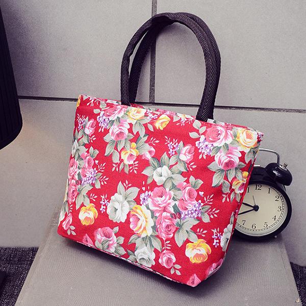 Outdoor Travel Beach Storage Bag Portable Floral Travel Bag for Girls Women Toiletry Organizer