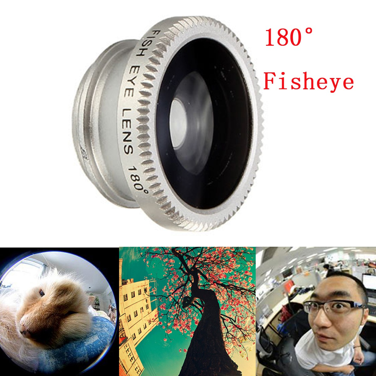 5in1 Clip Fisheye Wide Angle Macro CPL Filter Lens Teleconverter For iPhone 6 Plus Smartphone