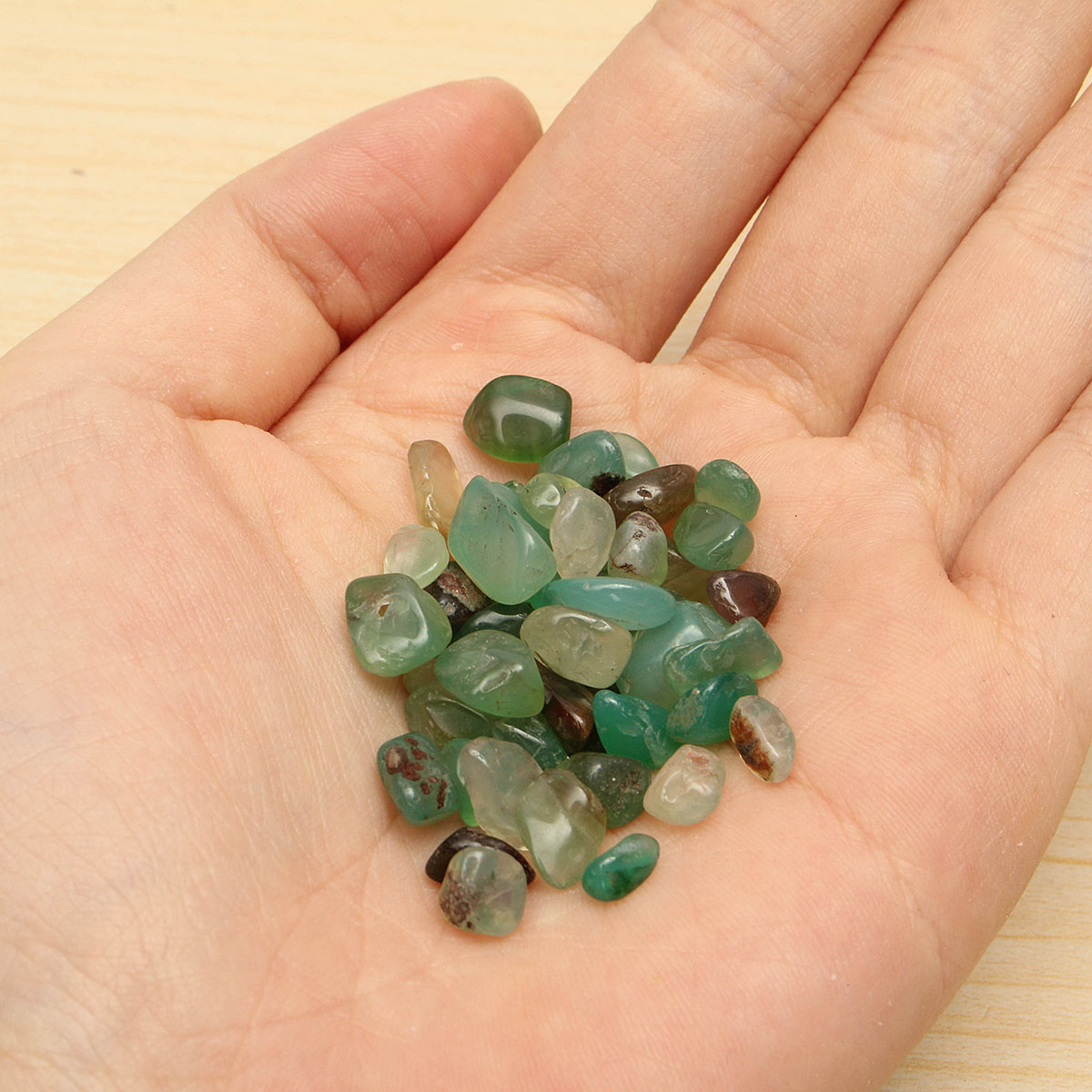 50g Jade Gravel Crystal Stone Aquarium Decoration DIY Design Gifts Accessories