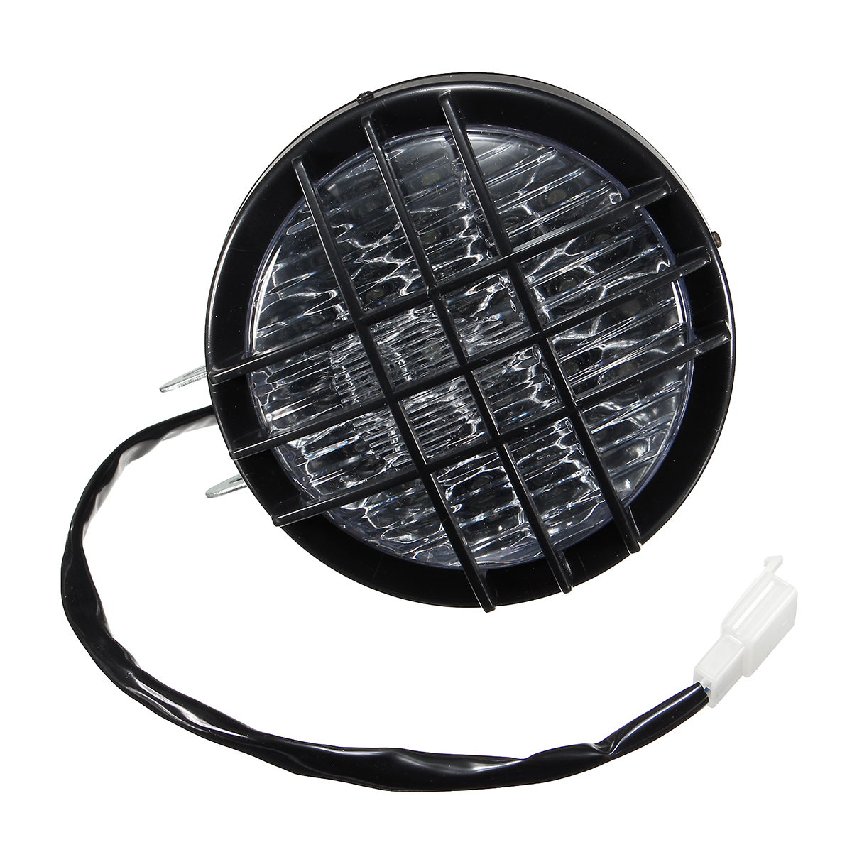 5inch LED Motorcycle Grill Headlight Headlamp Light For Harley Chopper Bobber