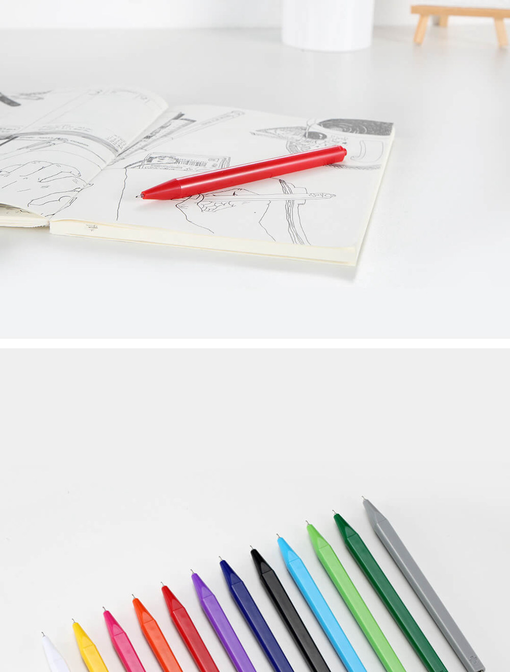 12Pcs/Set Xiaomi Radical 0.4mm Swiss Gel Pen Prevents Ink Leakage Smooth Writing Durable Pen