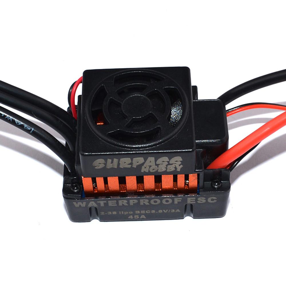 Surpass Hobby Waterproof F540 3300KV Brushless Rc Car Motor +45A ESC Combo Set For 1/10 Rc Car - Photo: 9