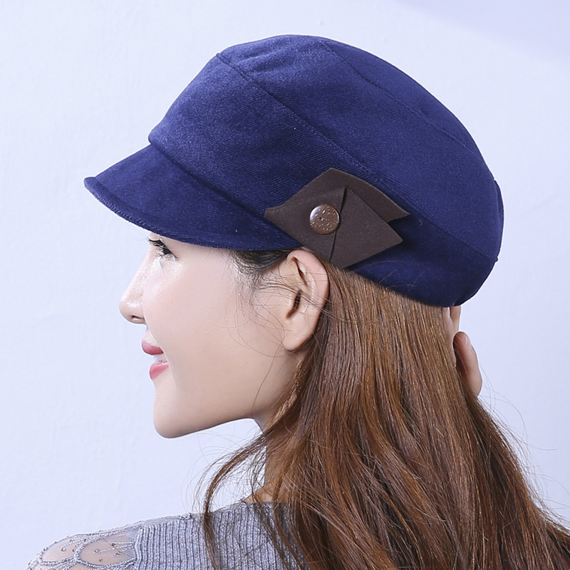 Winter Lady Vogue Korea Style Warm Wool Blending Beret Caps