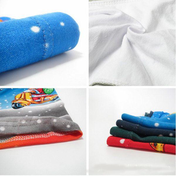 Christmas Santa Mens Cotton Briefs Classic Modal Print Pattern Boxers Shorts
