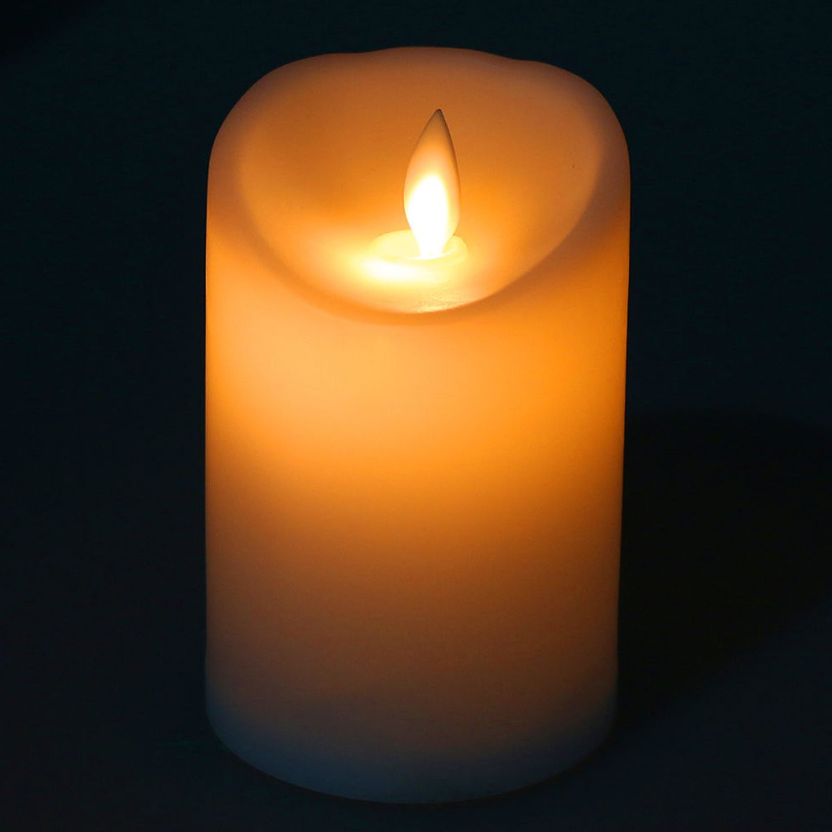 Romantic Electronic LED Flameless Flickering Simulation Candle Night Light 11.5*7.5cm