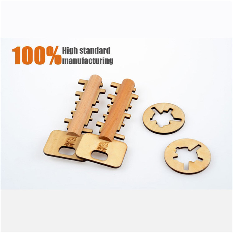 Unlock Puzzle Key Classical Funny Kong Ming Lock Toys Intellectual Educational For Children Adult