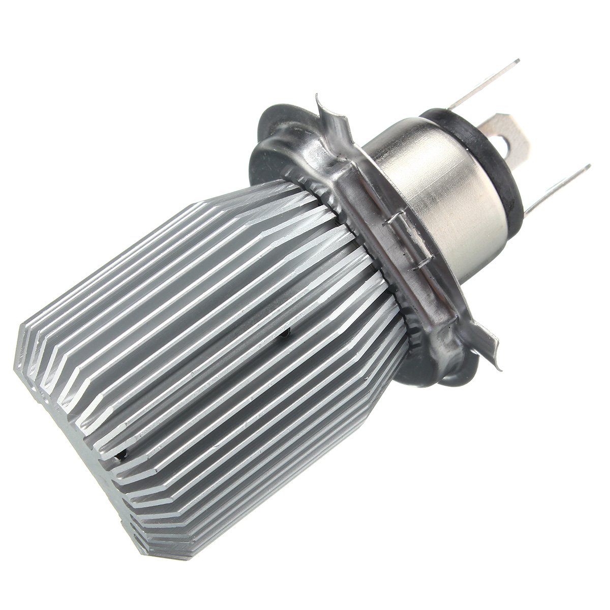 12V-24V H4 6000K White COB LED Hi/Lo Beam Motorcycle Headlight Front Light Bulb Lamp