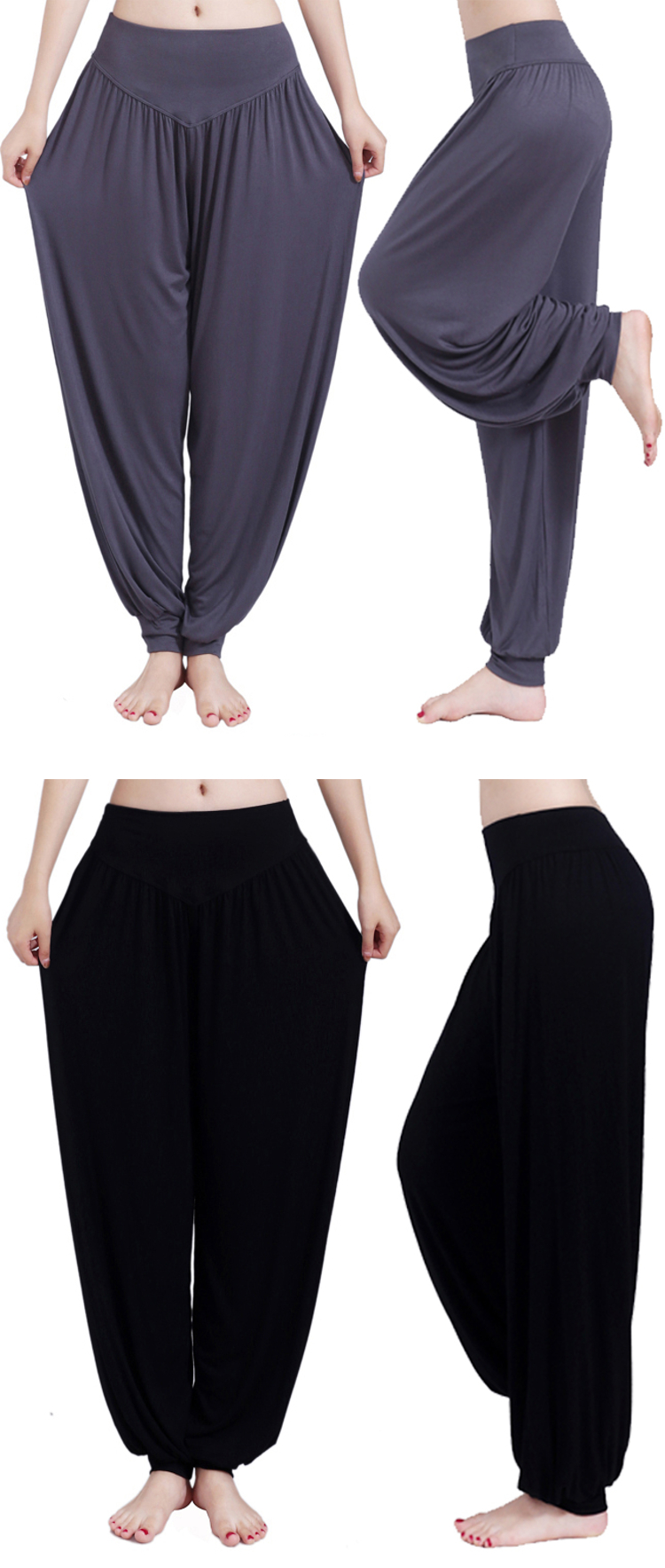Plus Size Women Multicolor Loose Workout Pants