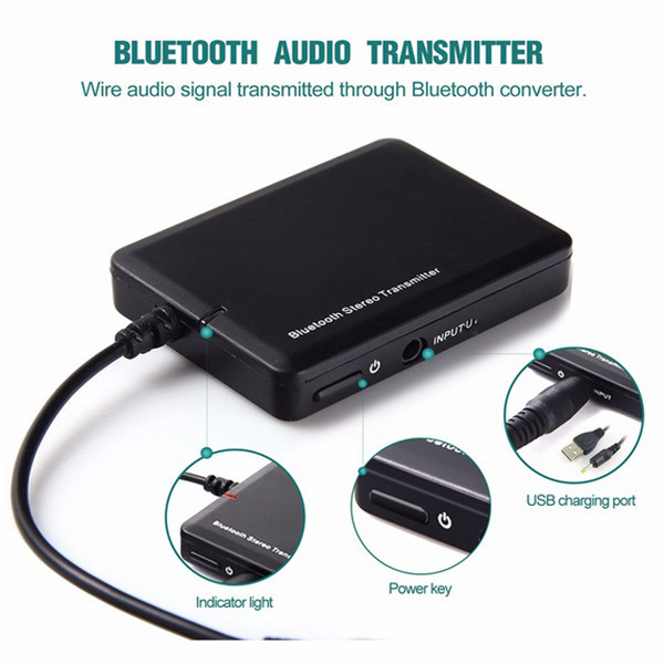 TS-BT35F01 3.5mm bluetooth Audio Transmitter Receiver A2DP Stereo Dongle Adapter for TV PC Subwoofer