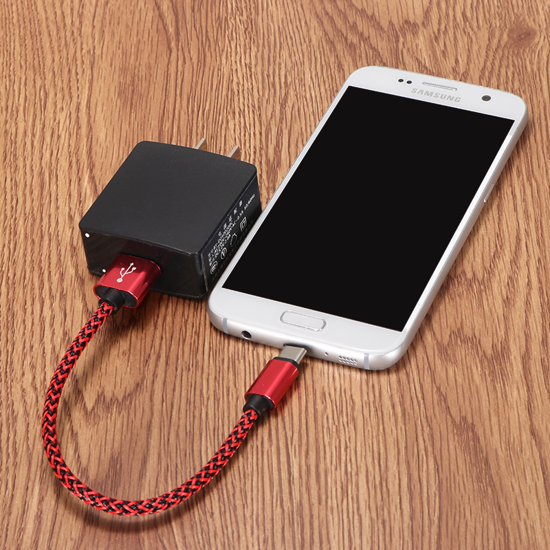 Bakeey 2A Twist Nylon Weave Line Type-C USB Fast Charging Data Cable 0.22m For SamsungS8 Letv Xiaomi