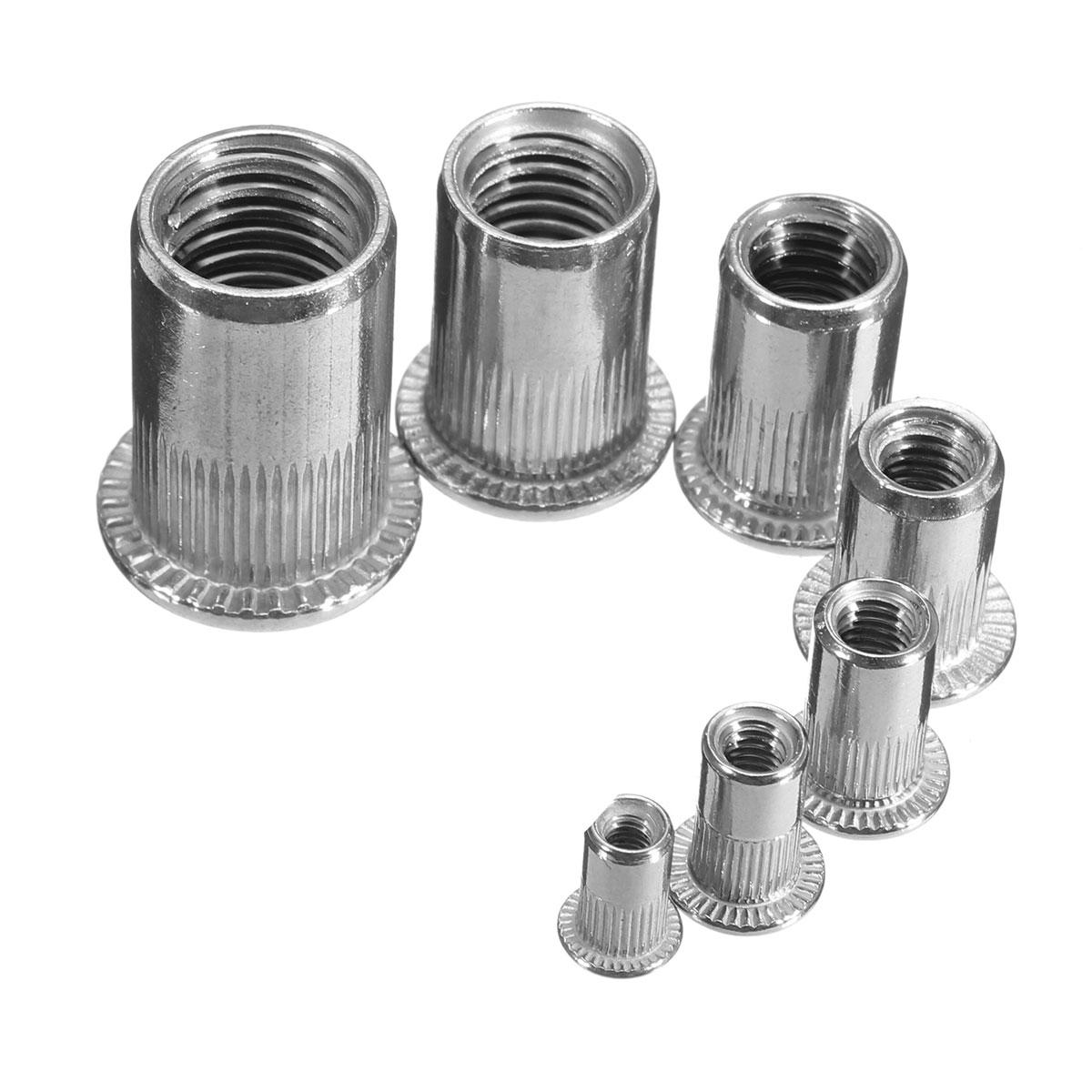 1pcs Slilver Threaded Steel Rivnuts Blindnuts Nutserts Nuts Insert Rivet