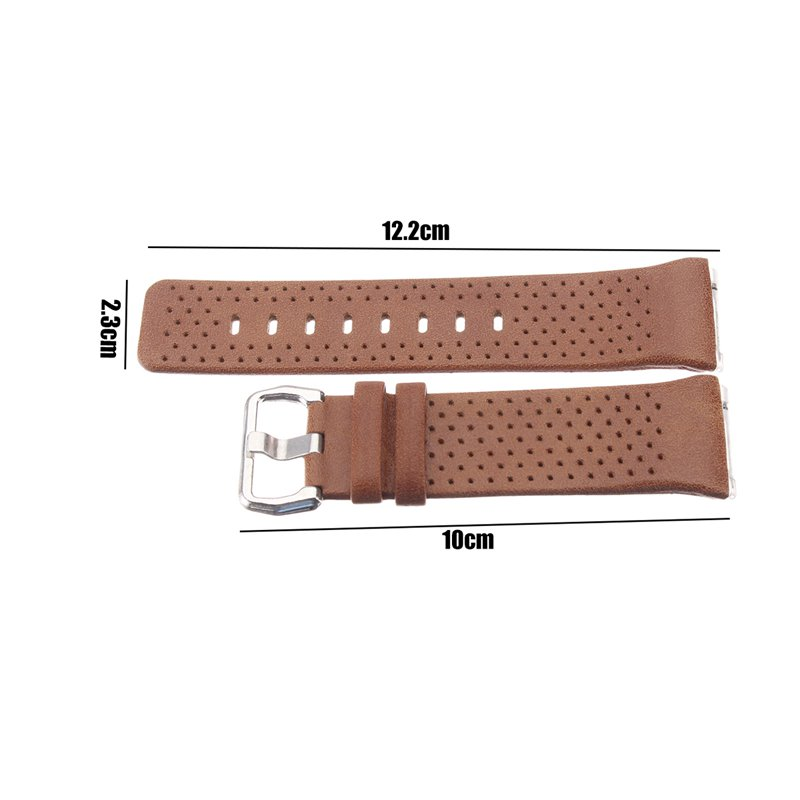 Replacement Leather Wrist Watch Band Strap For Fitbit Ionic