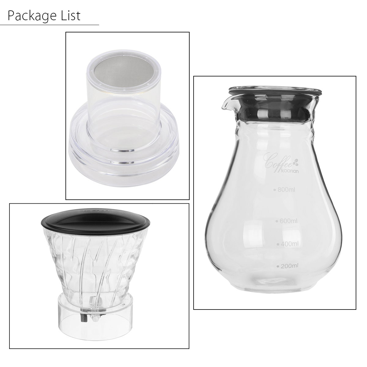 1000mL Glass Cold Iced Drip Brew Home Coffee Maker Pot Pour Over Coffee Maker