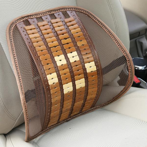 Summer Bamboo Car Back Cushion Seat Chair Ventilate Cushion Pad