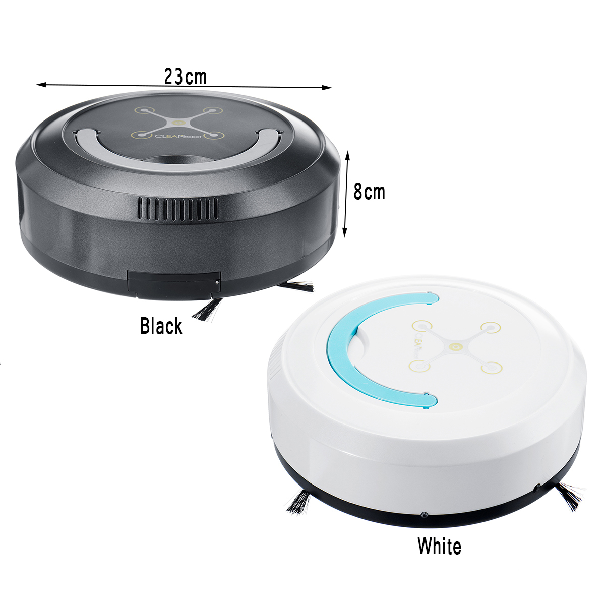 Automatic Smart Robot Robotic Vacuum Cleaner Dry Wet Mop Floor Carpet USB Cable