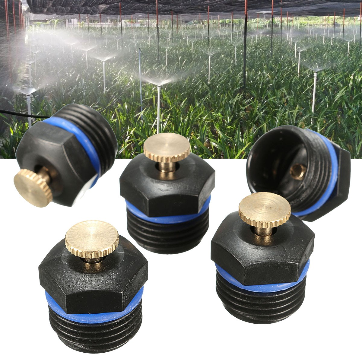 5Pcs Garden Sprinkler Head Water Lawn Sprinkle Irrigation Spray System Plant Flower Cooling