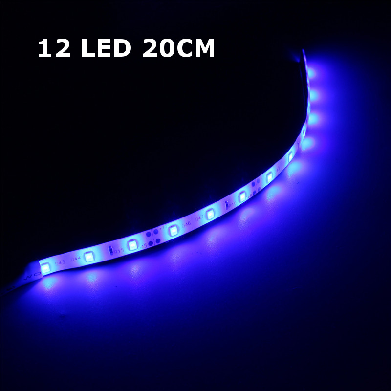 10CM 20CM 25CM SMD3528 1.2W LED Blue Strip Tape Aquarium Fish Tank Light+Power Supply DC12V
