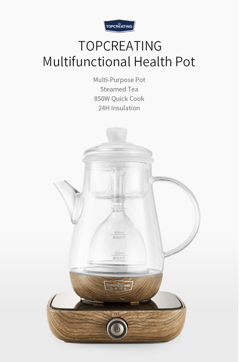 TOPCREATING DK515S 850W/600ML Multifunctional Health Pot Electric Tea Pot Water Kettle Electric Kettle From Xiaomi Youpin