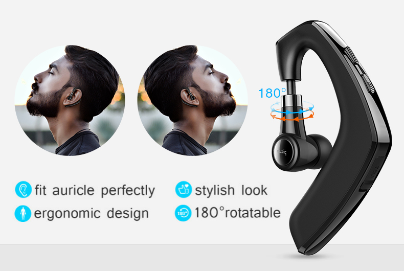 Picun T8 Business Wireless bluetooth Earphone HIFI Bass Handsfree Sports With Mic for Iphone Xiaomi