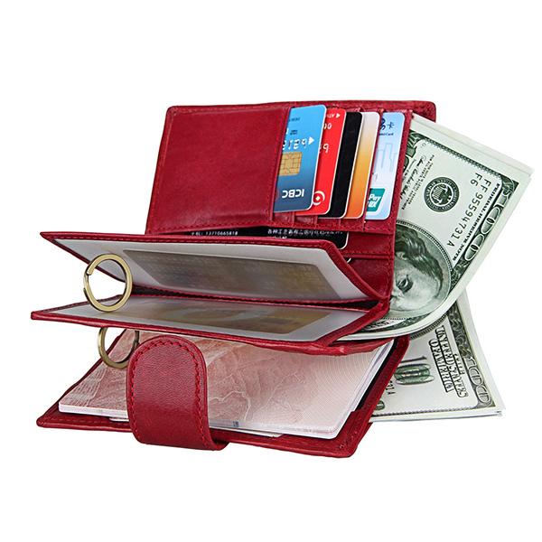 RFID Antimagnetic Women Men Leather Passport Wallet Purse