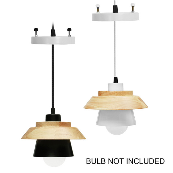 E27 Wood Pendant Lights Modern Kitchen Ceiling Hanging Night light AC110-240V