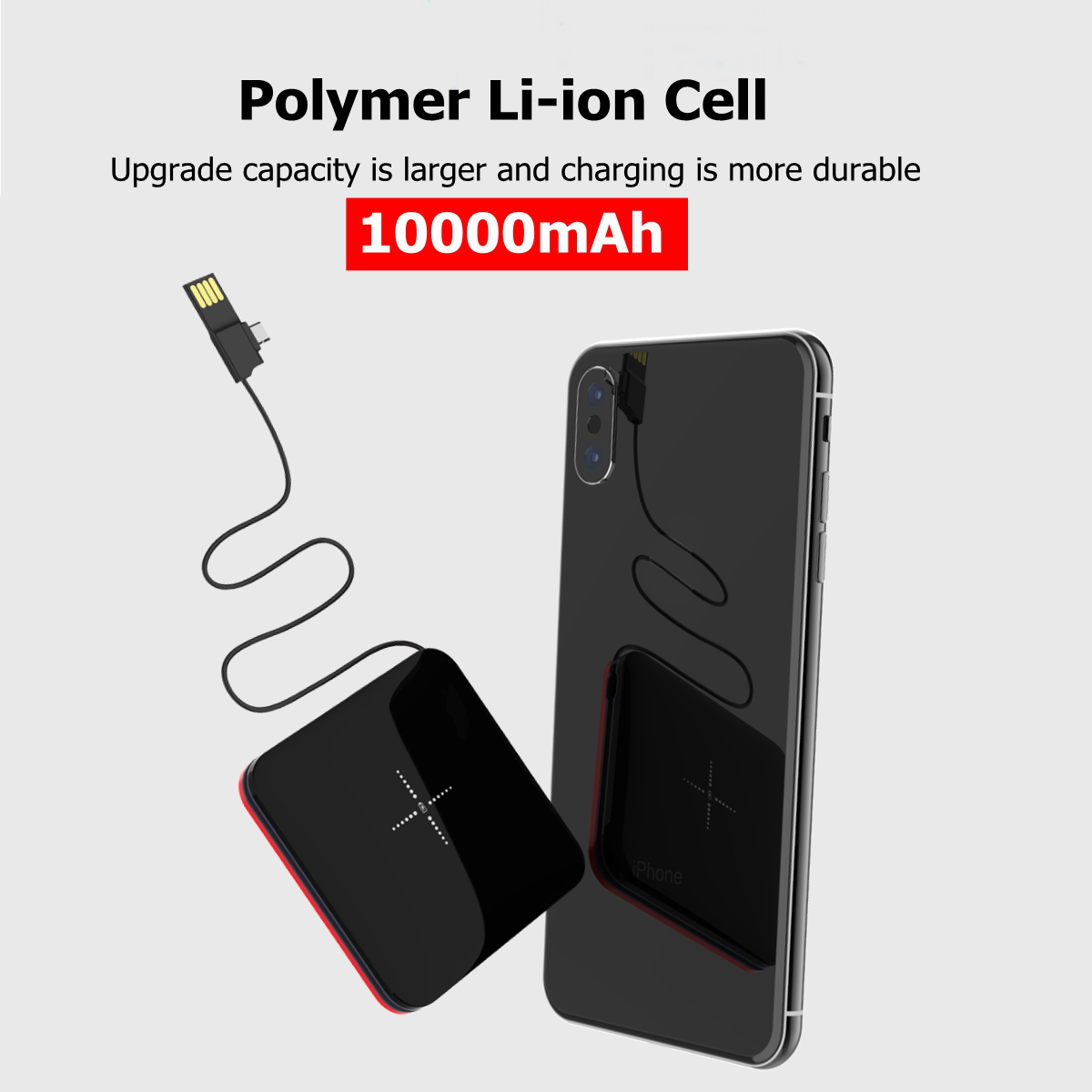 Mobile Power Case Box Usb 18650 Battery Cover Keychain For Iphone Samsung Mp3 Free Shipping Drop Shipping Firm In Structure Accessories & Parts Chargers