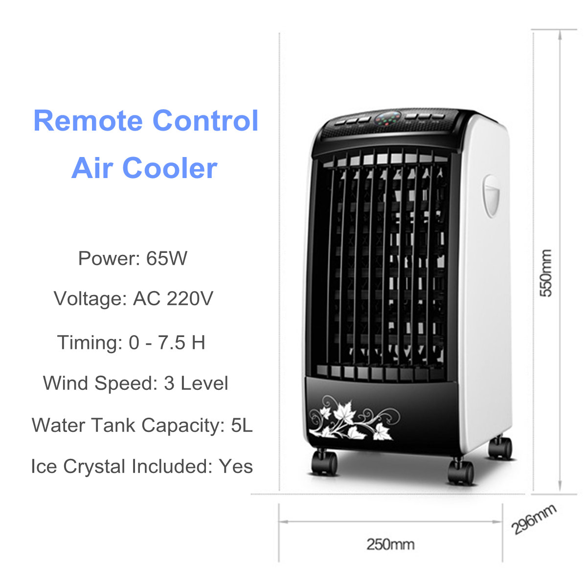 220V Portable Air Conditioner Air Conditioning Fan Humidifier Cooler Cooling System
