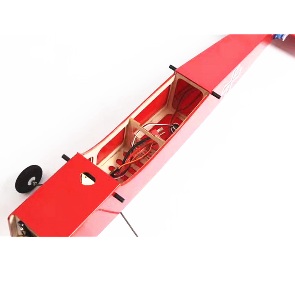 Challenger Wooden 900mm Wingspan RC Airplane Fixed Wing KIT/PNP Yellow/Red