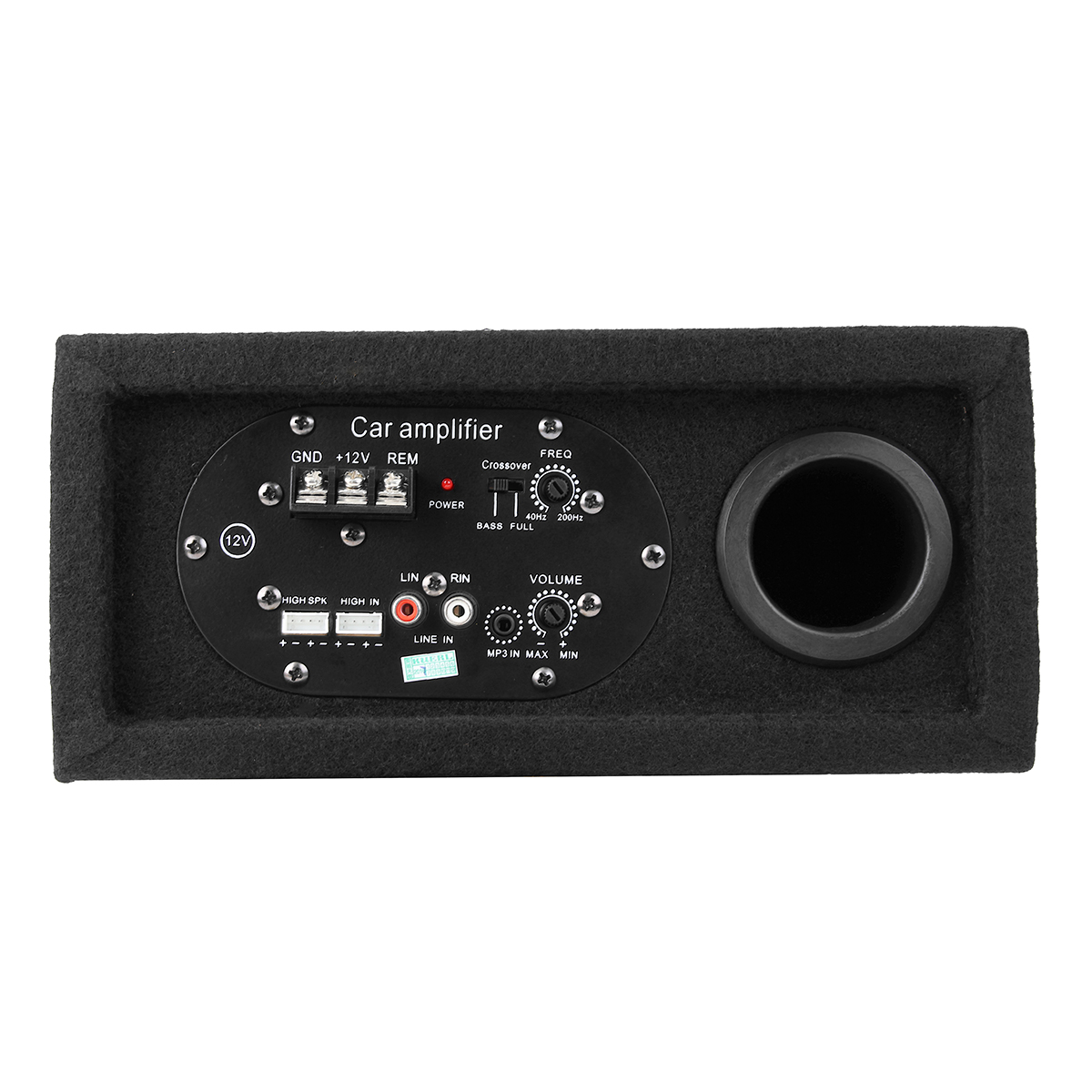 480w Slim Under Seat Powered Subwoofer Car Amplifier