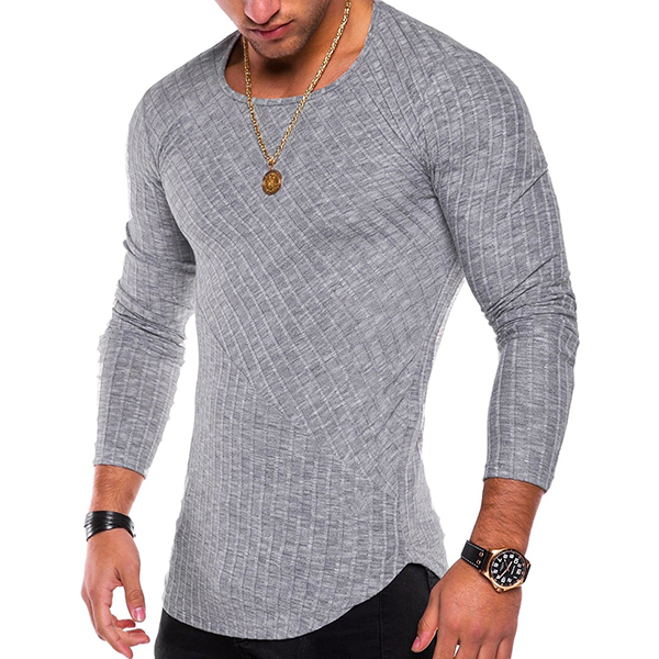 Snowflake Pits Spliced Men's Pullover
