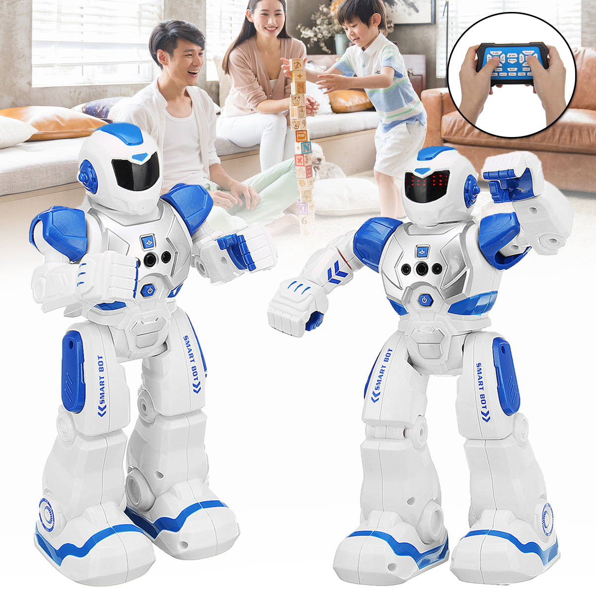 RC Music Dance Robot Toy Remote Control Gesture Robot Smart Action Infra-red Interactive Toy For Kid