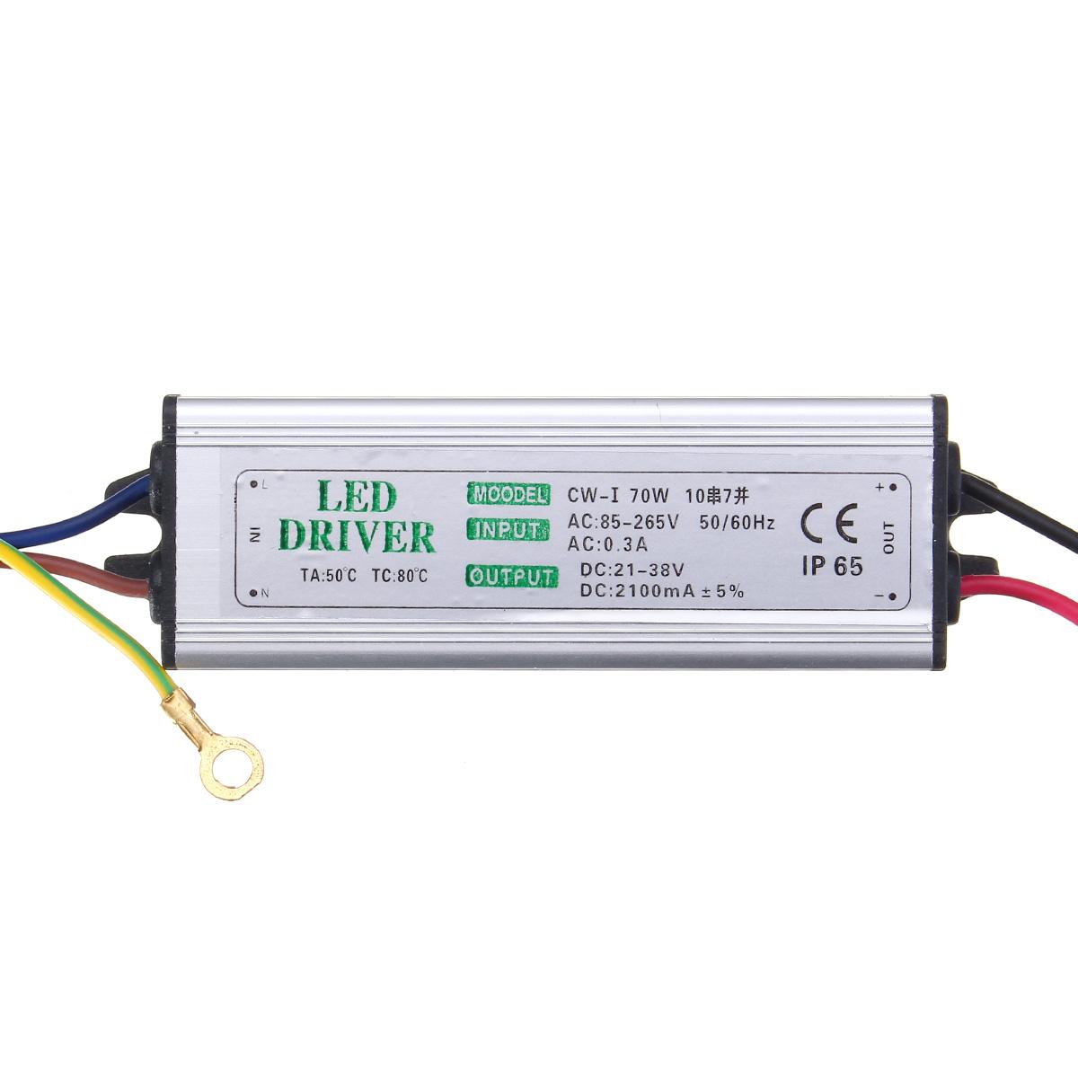 10W 20W 30W 50W 100W Waterproof High Power Supply LED Driver AC85-265V