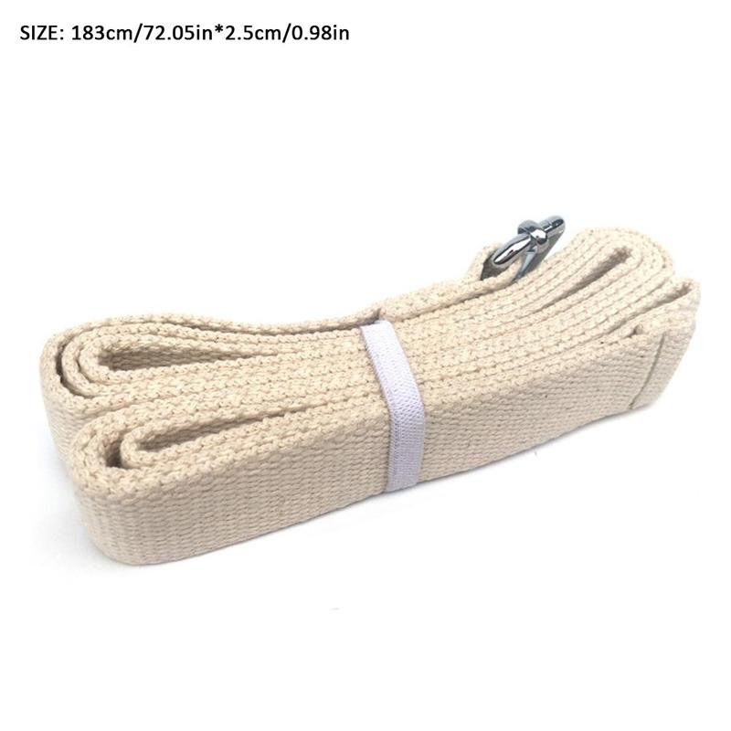 KALOAD 183cm Pure Cotton Pilates Yoga Strap Belt Fitness Exercise Gym Waist Leg Resistance Bands