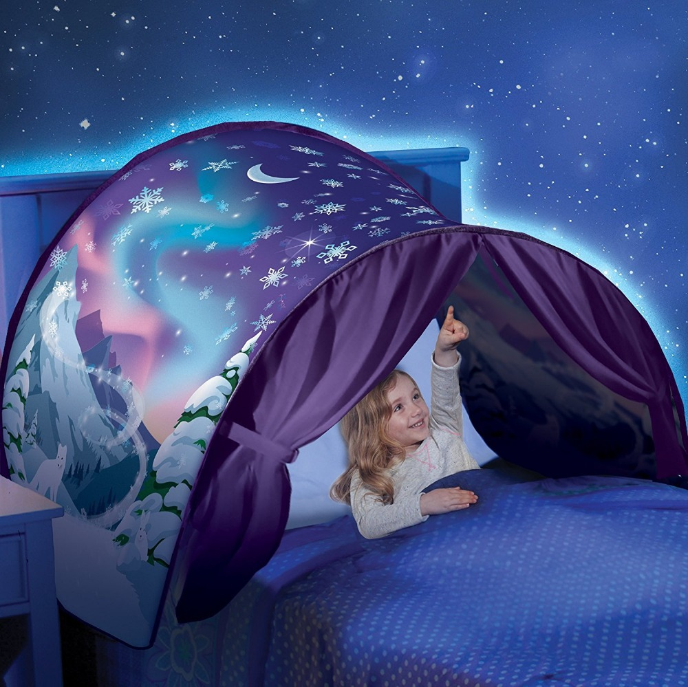 Honana WX-Y77 Winter Wonderland Magical Dream World Tent Foldable Fast Pop-up Bed Curtain