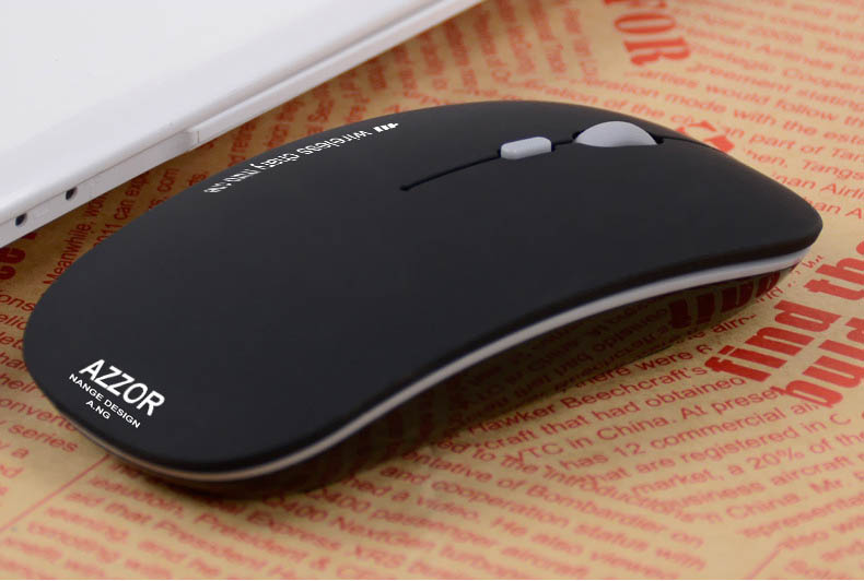 Azzor N5 2400DPI Rechargeable 2.4GHz Wireless Mouse Ultra-thin Mouse for Laptops Computers