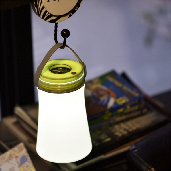 Portable Silicone LED USB Camping Lantern Light with Compass Rechargeable Outdoor Hiking Emergency