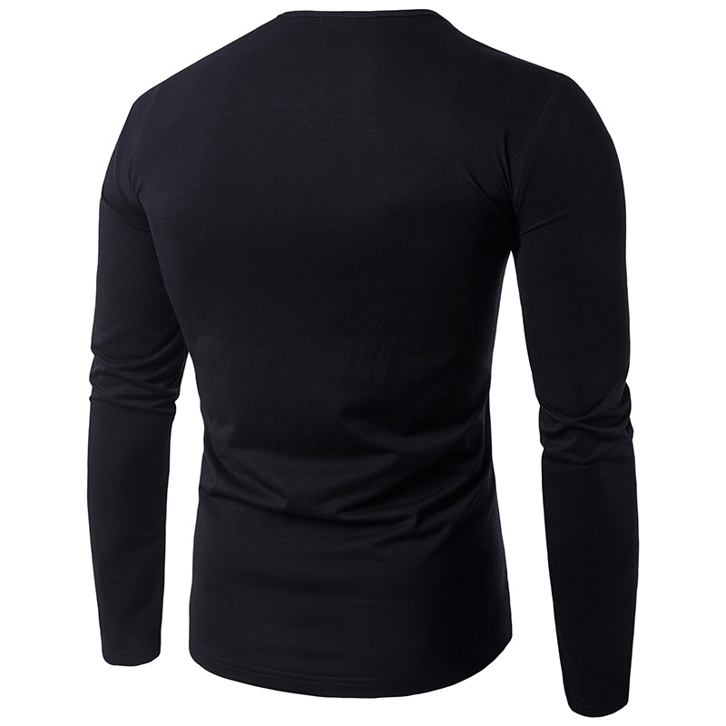 Mens Casual Personalized Half Zip Splicing Collar T-shirt
