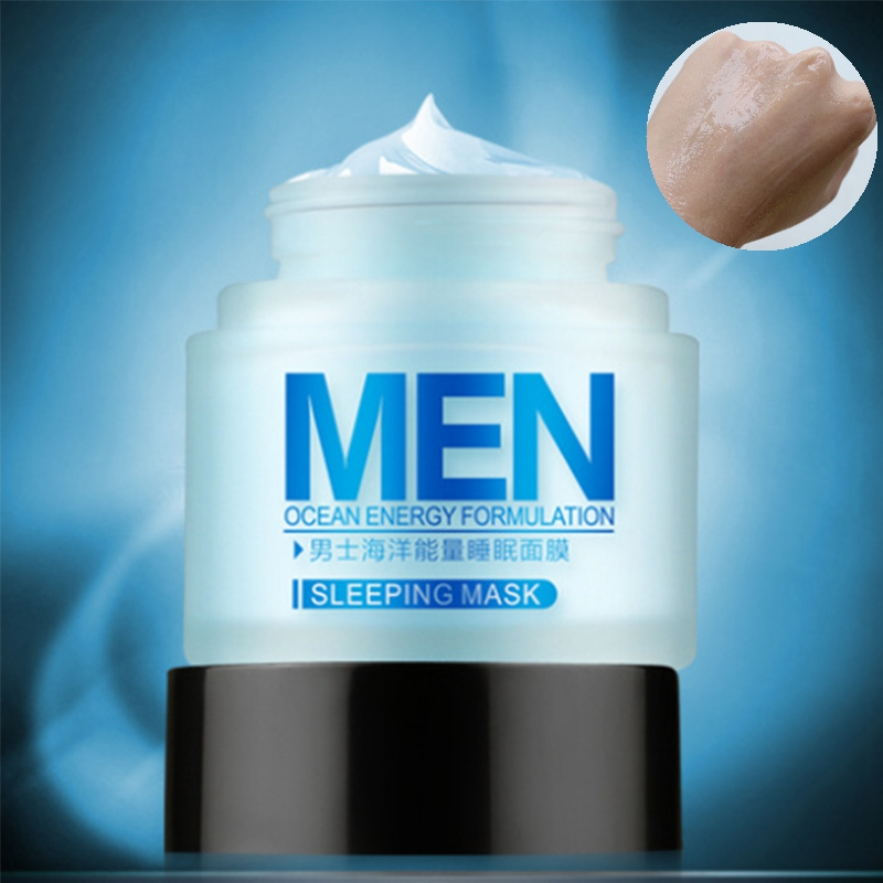 LAIKOU Men Ocean Energy Formulation Sleeping Face Mask Moisturizing Oil Control Shrink Pores