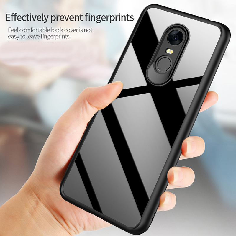 Bakeey™ Acrylic Airbag Back TPU Frame Shockproof Ultra Thin Protective Case for Xiaomi Redmi 5 Plus