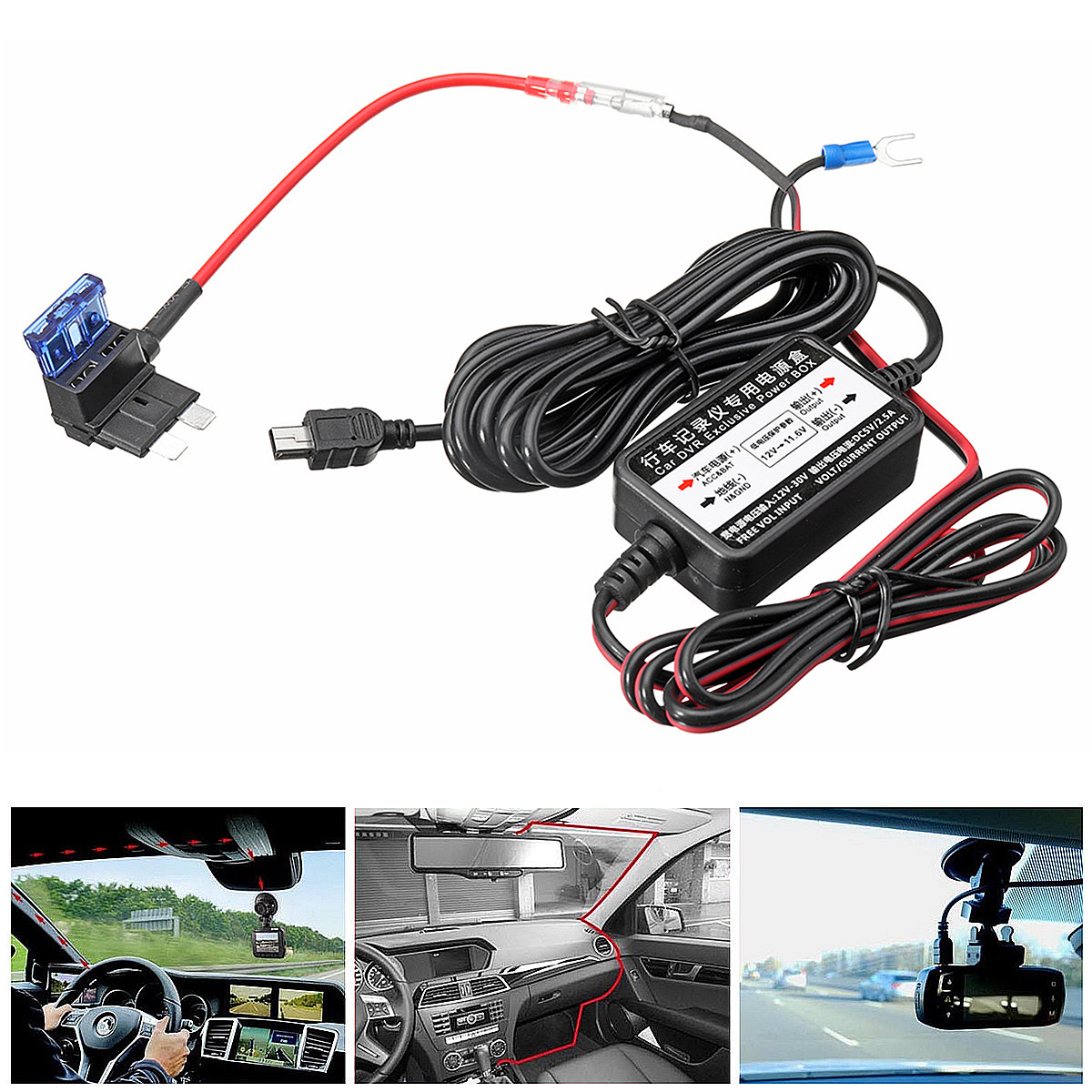 12V 24V Car Nextbase Hard Wire Kit Dash Cam Camera