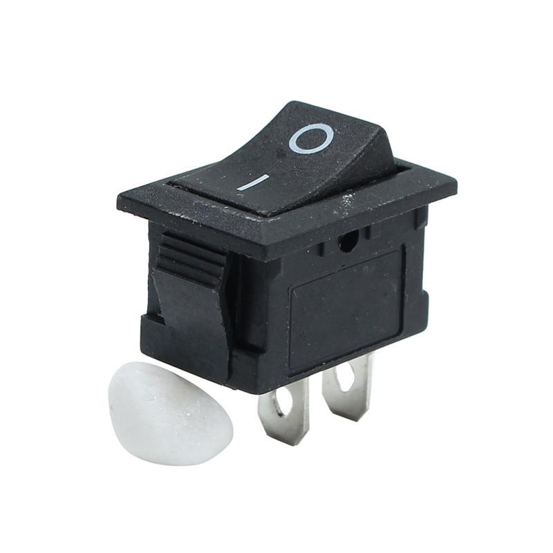 5pçs Botão de Pressão Preto Mini Interruptor 6A-10A 110V 250V KCD1-101 2Pin Snap-in Interruptor de Balancim Ligado/Desligado 21MMx15MM